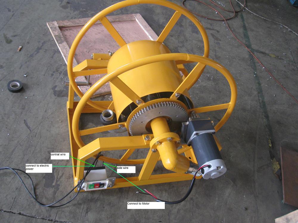 Electric Hose Reels Water Truck Retractable Hose Reel