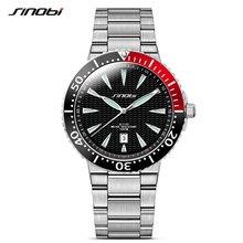 SINOBI спортивные мужские многофункциональные военные часы из нержавеющей стали водонепроницаемые кварцевые часы Бренд Rolexable relogio masculino 19(Китай)