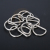 mini Shiny Plated Welded Metal Nickel Round 20mm polished D Ring for Lady Backpack/purse/bag accessories