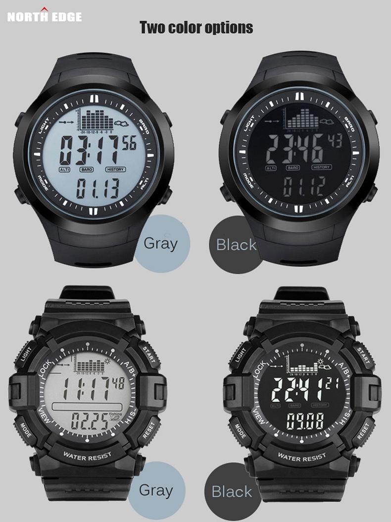 Digital Watches dl-o03 Men's Watches Multifunction Waterproof Spovan Watch Altimeter Compass Stopwatch Fishing Barometer Outdoor Sports Watch