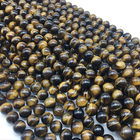 Natural Natural Wholesale Natural Stone Bead 8mm AB Quality Of Tiger Eye Stone With Gemstone For Jewelry Making