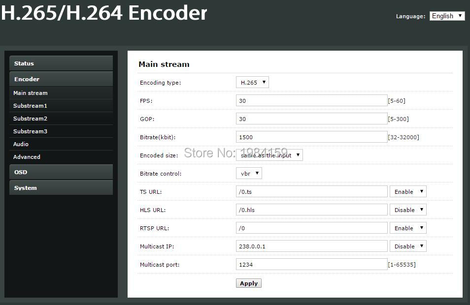 H 265 HEVC wifi HDMI Video Encoder streaming encoder HDMI