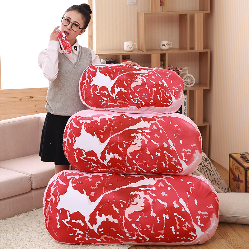 Hot Sale Creative Fashion Kawaii Pork Meat Food Pillow