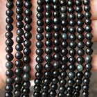 Loose Obsidian Guangzhou Bead Factory Loose Beads Natural Black Obsidian Beads Obsidian Rock Round Bead Strand For Sale
