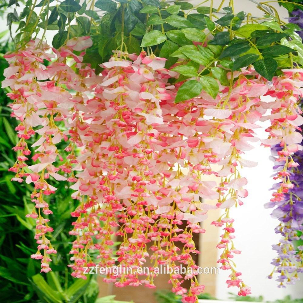 wholesale hanging flowers wedding wisteria artificial hanging flower. Black Bedroom Furniture Sets. Home Design Ideas