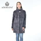 Women Fur Coat Women Fashion Classic Standing Collar Hot Selling Gray Women Mink Fur Coat