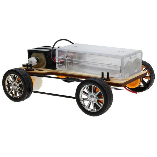 Hot Sale DIY Wooden Handcraft Four Wheel Drive Electric