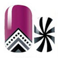Purple Sexy Pattern Nail Arts Sticker 14 pcs set Waterproof Nail Decal Art Sticker Gel Polish
