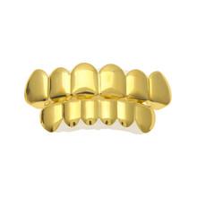 BOAKO Bling Золотые дентальные украшения для мужчин Grillz хип-хоп одиночные зубные решетки кепки Рэппер зубы комплект декоративных коронок панк ч...(Китай)
