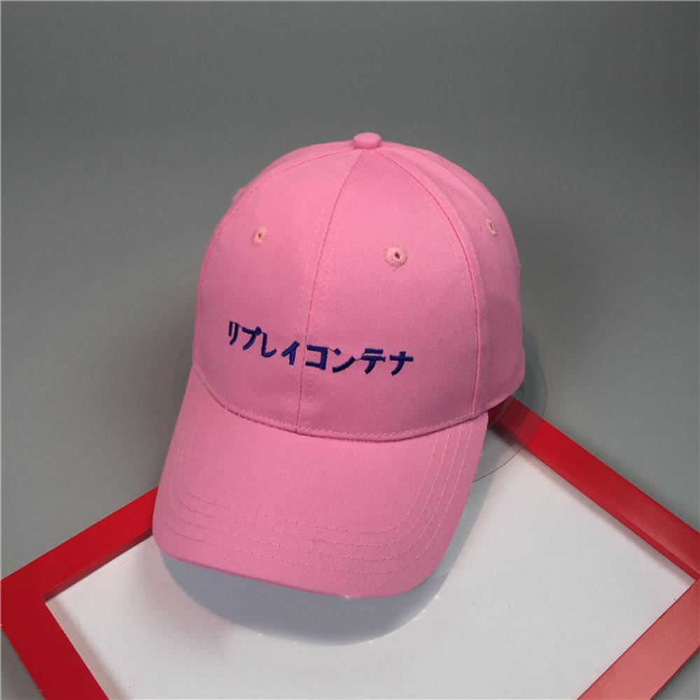 66bff4db6ef Fashion Sports Snapback Caps Men Solid Japanese Letter Adjustable ...