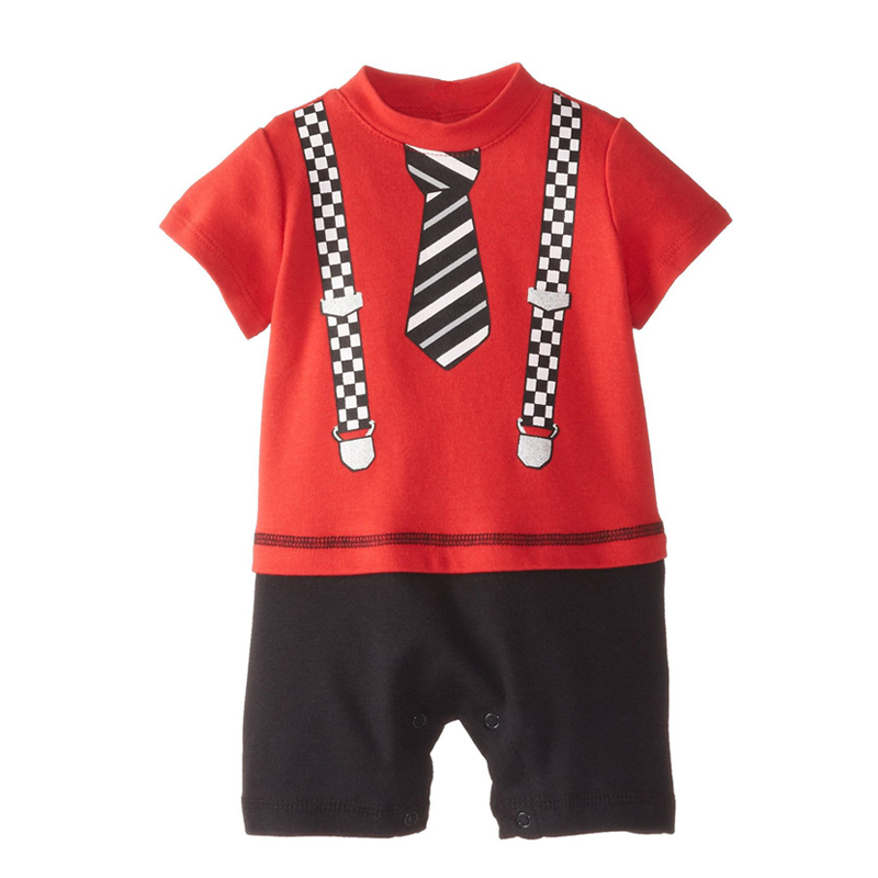 2016 summer new baby boys clothes fashion gentleman baby romper Jumpsuit leisure infant toddler climbing clothing