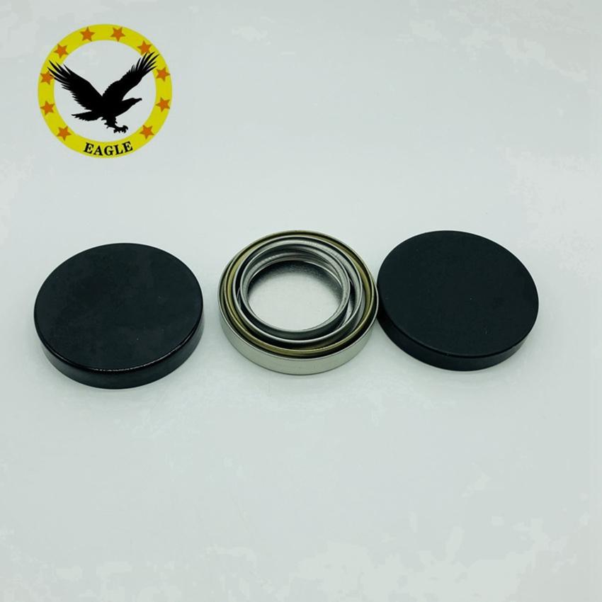 Запатентованный дизайн, металлические крышки из жести 38-400 45-400 53-400 58-400 89-400, крышки из нержавеющей стали, гладкая серебристая, золотистая металлическая крышка