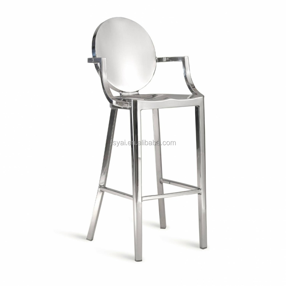 high quality wholesale endurable polishing dining stainless steel dining room restaurant bar chair
