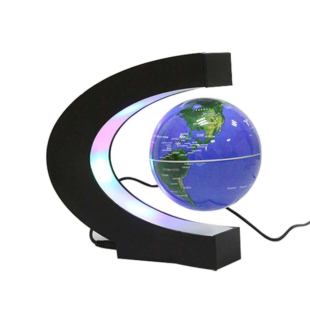 Floating Globe with LED Lights color