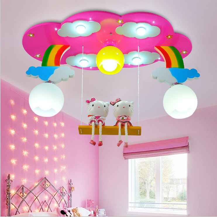 Modern Kids Bedroom Ceiling Designs Rustic Bedroom Accessories Bedroom Blue Color Combinations Bedroom Interior Design Singapore: Modern Cartoon Ceiling Light Kids Bedroom Bulb Light
