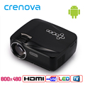 Crenova GP70UP 3D Android 4 4 Projector 1200 Lumens Support 1920x1080P Analog TV LED Projector Wifi