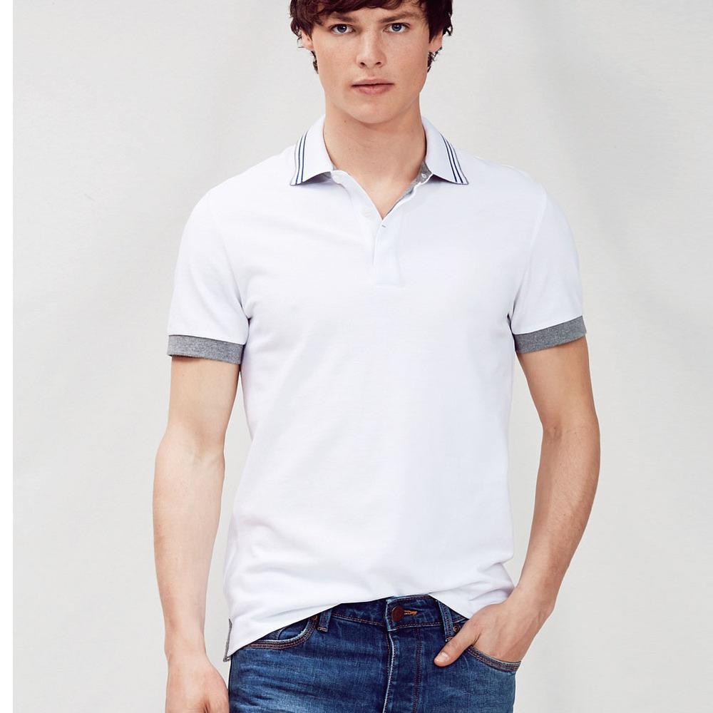 2019 Free Sample Men's Polo Shirt,Stripe Collar And Cuff White Polo T Shirt,Cheap Polo Uniform For Men - Buy Free Sample Polo Shirt,White Polo T ...