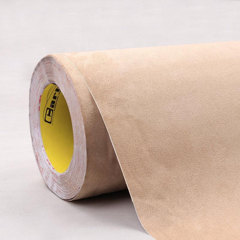 Beige Adhesive Velvet Fabric For Trucks Vans Vehicle Interior ...
