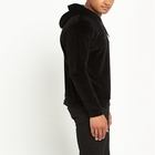 Blank Black Mens Black Hoodie For Men High Quality Wholesale Blank Velour Black Hoodie For Mens