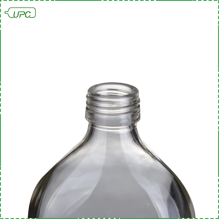 Оптовая продажа, брендовая плоская пустая стеклянная бутылка для водки, фляга 200 мл