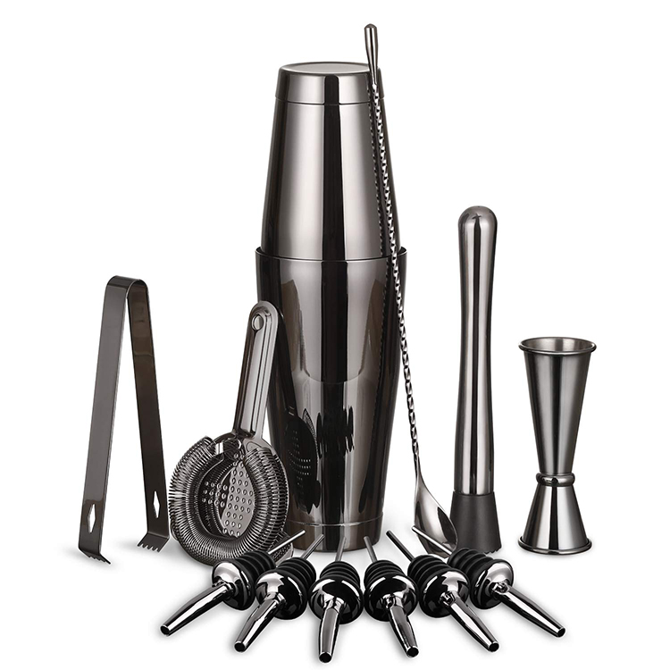 Factory Direct Professional Boston Cocktail Shaker Set Stainless Steel Bar Tools Set Cocktail Bartender Kit