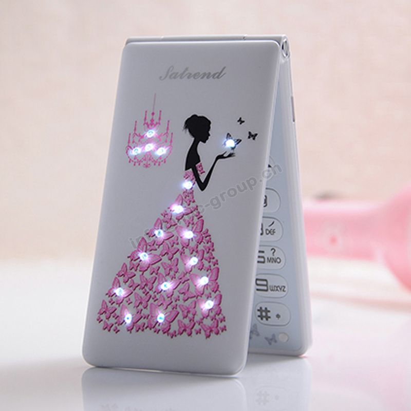 Bar China Cheongsam Small Cartoon Dual SIM Card Women Kids Girls Lady Cute Mini
