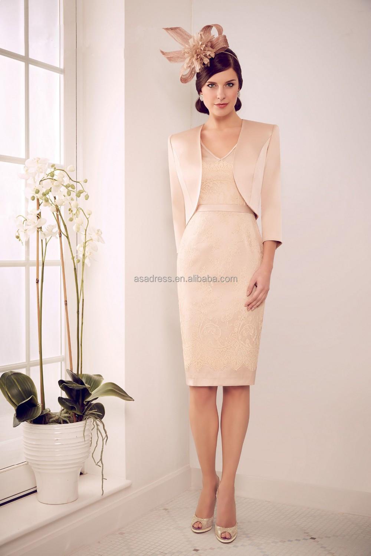 Groom Dress Knee Length Champagne Lace