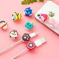 5pcs lot superman batman Cartoon USB Cable Earphone Protector headphones line saver For USB charging line