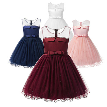 Children Party Dresses Night Dress For Girls Prom Costumes Dress To Wedding Frocks Flower Girl Red Short Clothing Summer Clothes