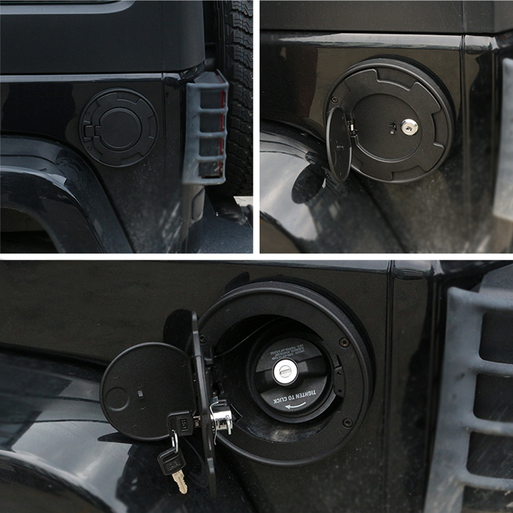 Tank cover with lock for JK  Fuel Tank Cap Gas Tank Cover for Wrangler JK 07-17 Auto Accessories