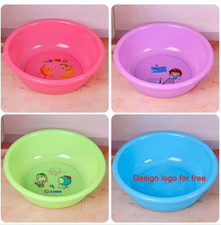 Круглая красочная недорогая пластиковая раковина для кухни и ванной