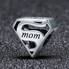 Jewelry Silver Silversilver Manufacturing Price Wholesale Jewelry Qings 925 Sterling Silver Super Mom Charm For Mother