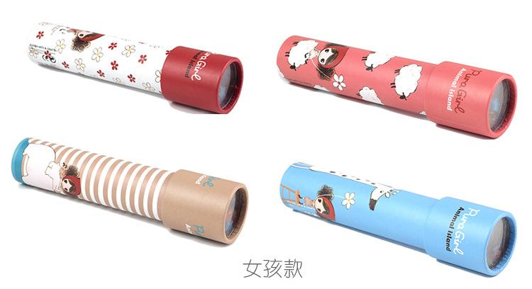 Оптовая продажа, креативные игрушки, мультяшный калейдоскоп, детские развивающие игрушки, вращающийся калейдоскоп, волшебные кубики, натуральный деревянный цвет