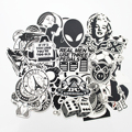100 PCS Black and White Cool DIY Stickers For Skateboard Laptop Luggage Snowboard Fridge Phone Toy