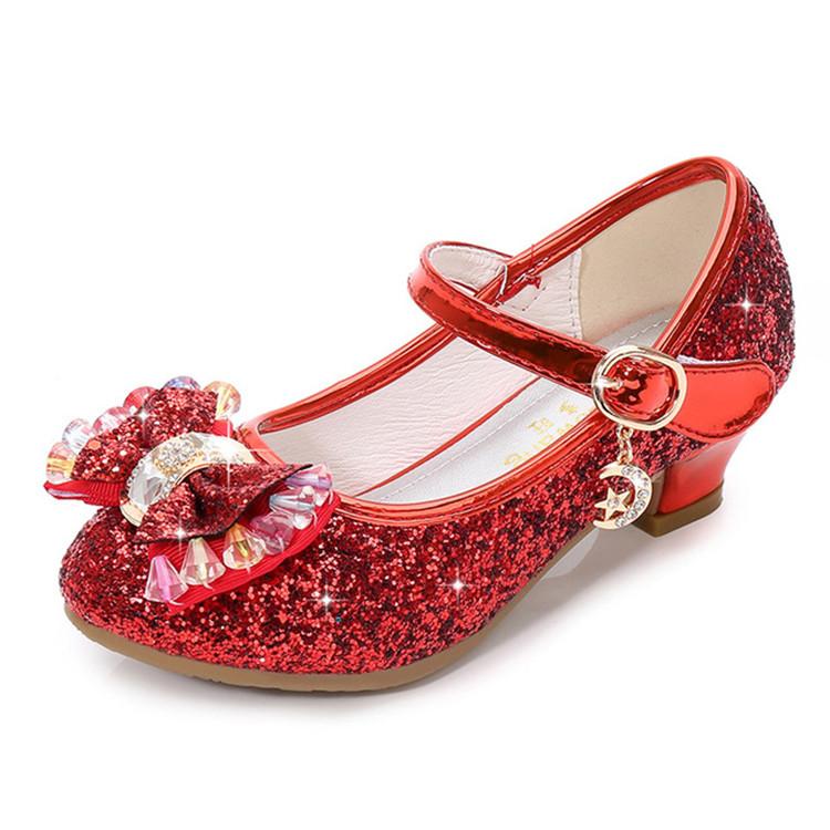 Вечерние туфли с блестками для девочек, вечерние туфли для торжества, свадьбы, цветочные туфли для девочек, подходящие к вечернему платью