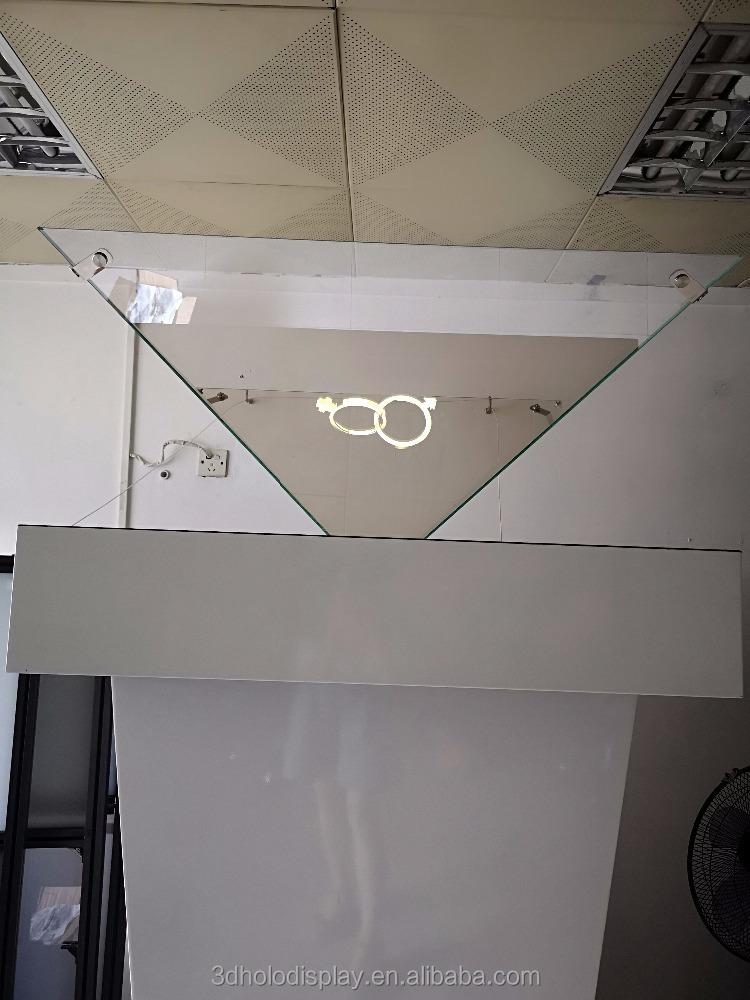 360 degree customize 3d display pyramid hologram display, Large 3D Pyramid Display up to 3 meter