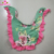 New design children drool ruffle trim bibs double sided wear pretty teal floral baby girls bibs