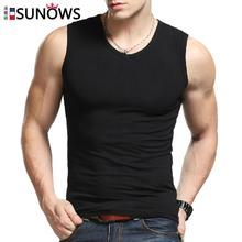 Fashion Brand Men's 100% Cotton O-Neck Tank Tops Summer Male Sleeveless V-Neck Vest 2015 Casual Gilet White / Gray / Black