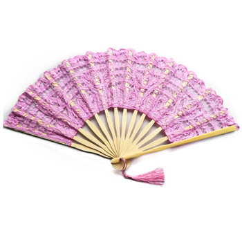 Wholesale romantic lace hand fan for dancing