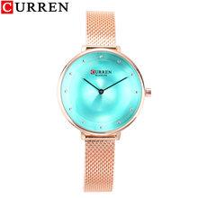 CURREN 2020 Роскошные Для Женщин Металлическая Сетка часы простые женские наручные часы от топ бренда, модные синие женские часы Relogio Feminino(Китай)