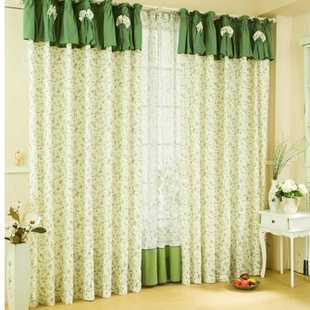 Rustic curtain quality bedroom curtain piaochuang shalian curtain