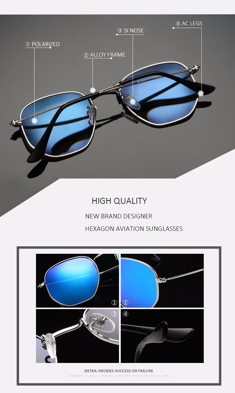 7be6c9479df Wholesale Aimade 2016 New Hexagonal Flat Lenses Polarized Sunglasses ...