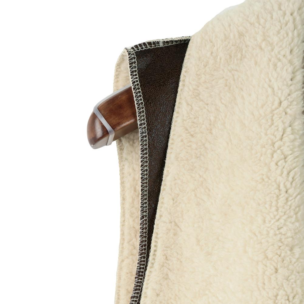 Женщины искусственный мех жилет пальто замша без рукавов флис длинная жилет куртка верхняя одежда кофе
