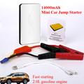 12V Mini Emergency Multi Function 14000mAh Car Jump Starter 2 0A Power Bank 300A Peak Car