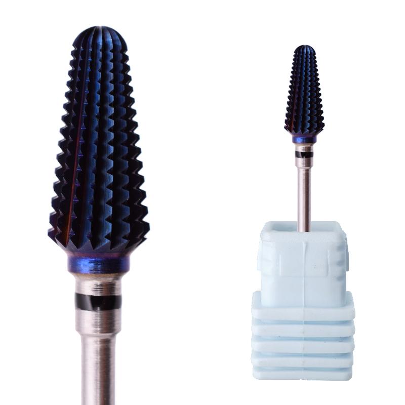 Сверло для ногтей с голубым покрытием Tonardo, сверло для удаления акриловых/гелевых материалов