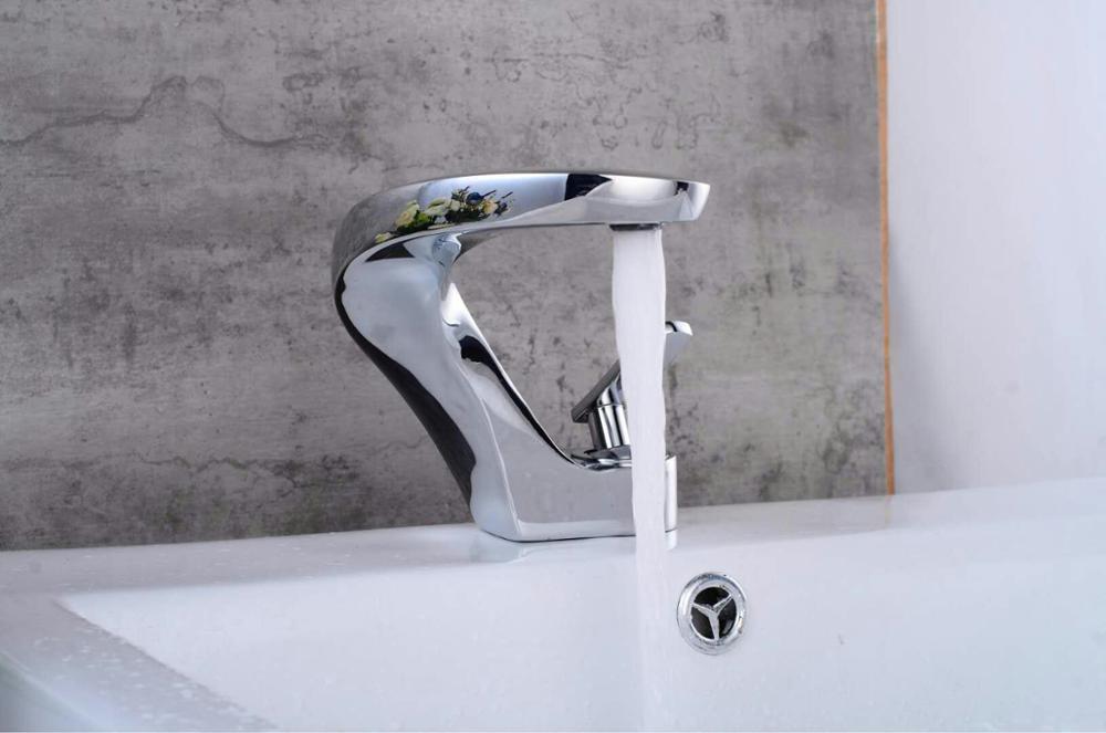 Сантехника Homedec, новый дизайн, раковина для ванной комнаты, черный латунный Смеситель для умывальника