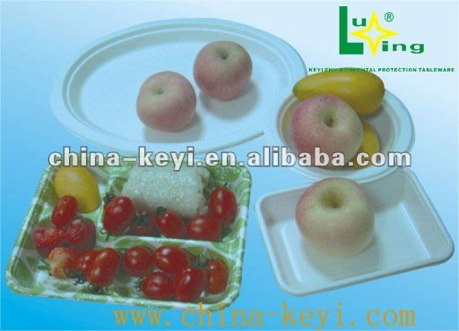 Customizable Sugarcane Water And Oil Resistant Biodegradable Disposable Paper Tableware