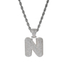 Letter N, Gold, SIlver, Rose Gold, 3 colors to choose