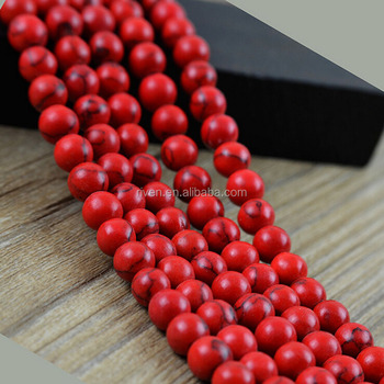 NB0036 Natural Stone Bead 4mm 6mm 8mm 10mm loose bead Red Turquoise Stone