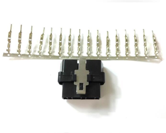 Автомобильный интерфейс OBD штекер 16-контактный разъем OBDII Штекерный адаптер J1962M OBDII оболочка Крышка